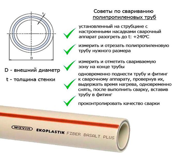 Советы по свариванию полипропиленовых труб