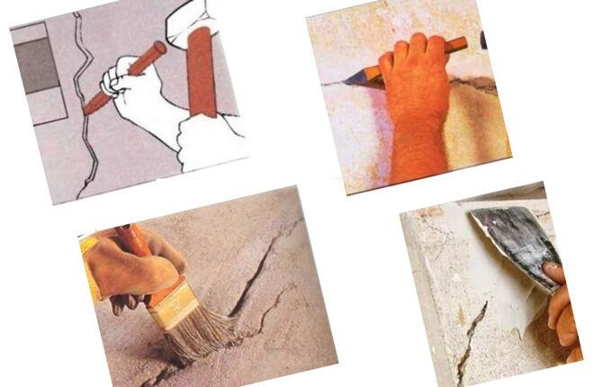 Заделывание трещины в стене