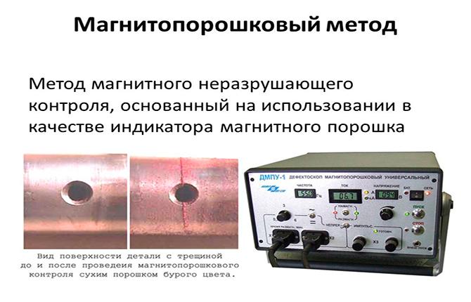 Магнитопорошковый метод проверки трубопровода