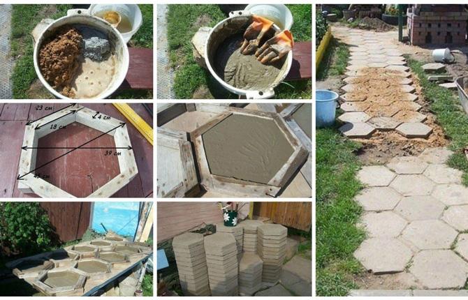 Состав бетона для тротуарной плитки – технология изготовления в домашних условиях