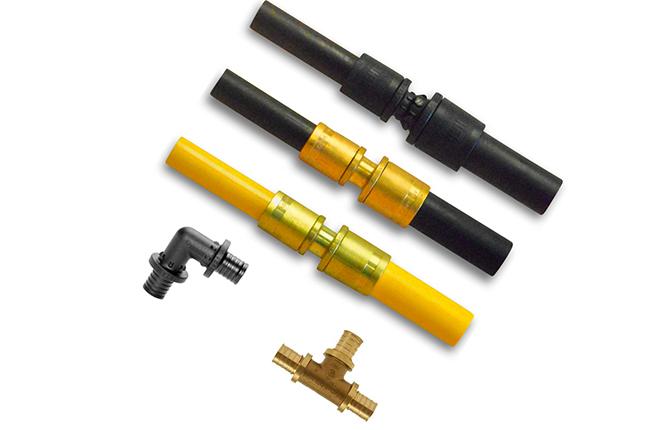 Фитинговое соединение труб PEX