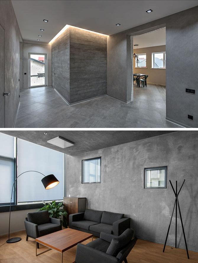 Декоративная штукатурка эффект бетона