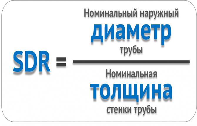 Что означает SDR в маркировке полиэтиленовых труб: формулы и примеры