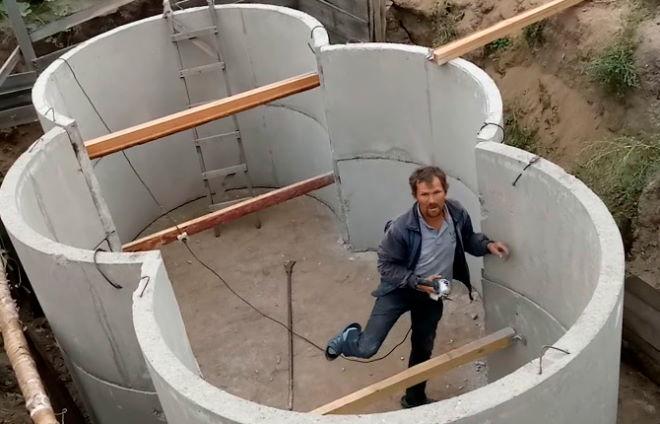 Строительство погреба из железобетонных колец